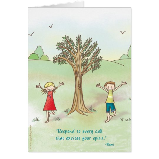 Begin Within - Tree Pose Greeting Card