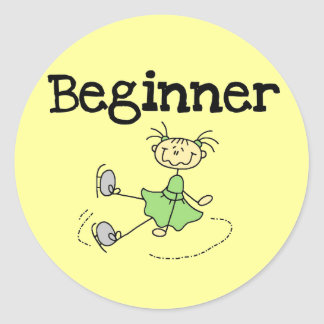 Beginner Ice Skater Tshirts and Gifts Sticker
