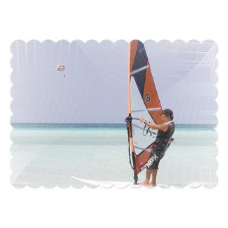 Beginner Windsurfer 5x7 Paper Invitation Card