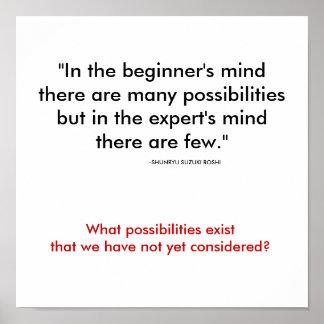 Beginner's Mind Poster