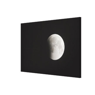 Beginning of a Total Eclipse of the Moon Canvas Print