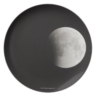 Beginning of a Total Eclipse of the Moon Plate