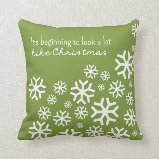 Beginning to Look a Lot Like Christmas | Green Cushion