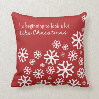 Beginning to Look a Lot Like Christmas | Red Cushion