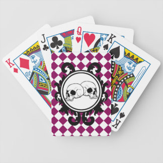 Begird Ivory (Red-Violet) Playing Cards