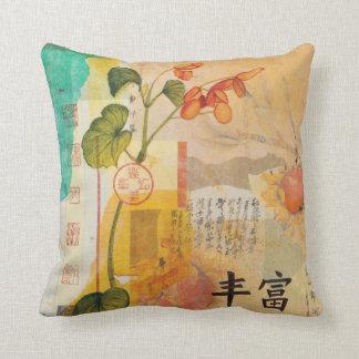BEGONIA ABUNDANCE Throw Pillow