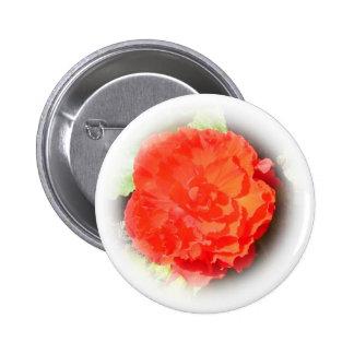 Begonia Flower 6 Cm Round Badge