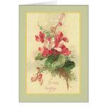 Begonia Vintage Birthday Greetings Note Card