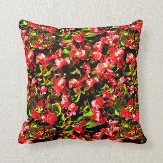 Begonias Cushion