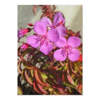 Begonias invitation, customize card