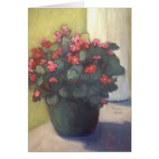 Begonias on the Porch Note Card