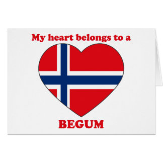 Begum Greeting Card