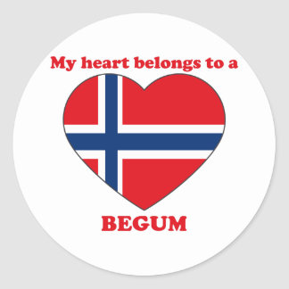 Begum Round Sticker