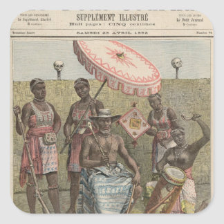 Behanzin  King of Dahomey Square Sticker