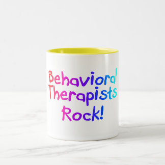 Behavioral Therapists Rock Two-Tone Coffee Mug