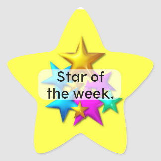 Behaviour Reward star sticker