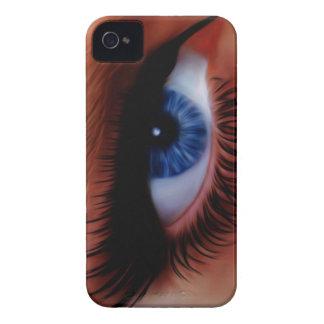 Behind blue eyes iPhone 4 case