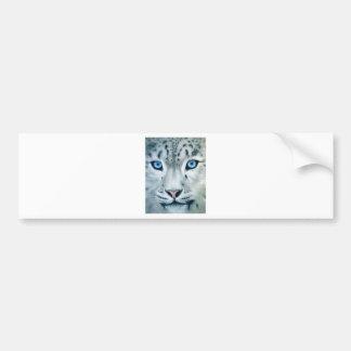 Behind Blue Eyes - Snow Leopard Bumper Sticker