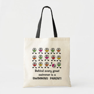 Behind every great swimmer is a SWIMMING PARENT Budget Tote Bag