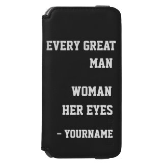 Behind Every Man custom color & name wallet cases Incipio Watson™ iPhone 6 Wallet Case