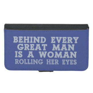 Behind Every Man custom color phone wallets