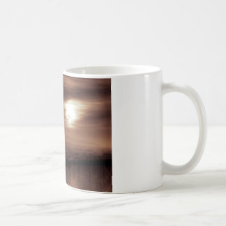 Behind schedule foggy basic white mug