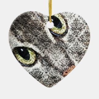 Behind the Damask Ceramic Heart Decoration