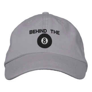 Behind The Eight Ball Embroidered Hat