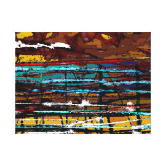 Behind the Lines - Abstract Canvas Print