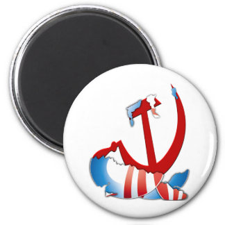 Behind The Obama Logo 6 Cm Round Magnet