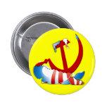 Behind The Obama Logo Button