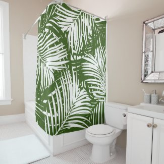 Behind the Palms Shower Curtain