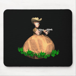 Behind The Rock Mouse Pad
