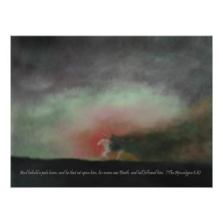 Behold a Pale Horse with Scripture quote Print