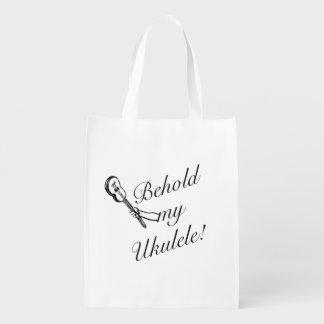 Behold My Ukulele Reusable Bag