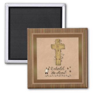 Behold the Lamb Christian Fridge Magnet