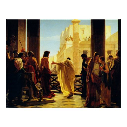 Behold the Man by Antonio Ciseri Poster
