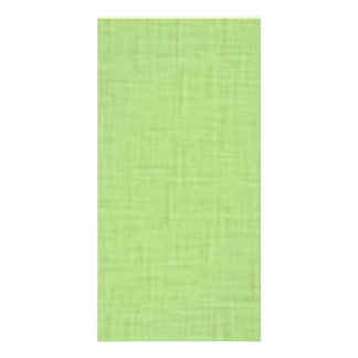 beige001 LIGHT GREEN SPRING CLOTH TEXTURES DIGITAL Custom Photo Card