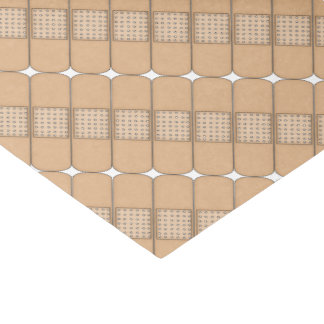 "Beige Adhesive Bandage-Nurses 10"" X 15"" Tissue Paper"
