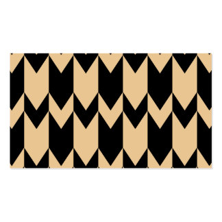 Beige and Black Chevron Pattern. Business Card Template