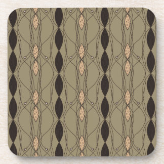 Beige and Brown Cool Retro Beverage Coasters