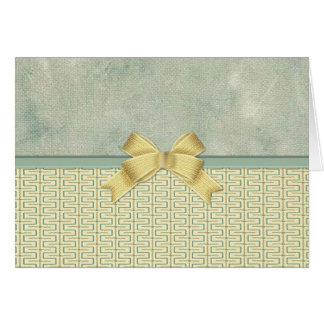 Beige and Green Bottom Border Greeting Card