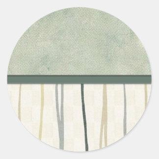 Beige and Green Mod Stripe (3) Sticker