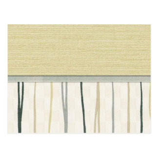 Beige and Green Mod Stripe Post Cards