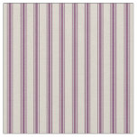 Beige and Plum Purple Classic Ticking Stripes Fabric