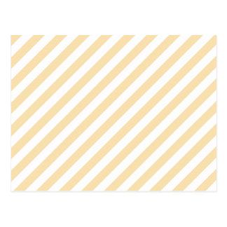 Beige and White Diagonal Stripes. Postcard