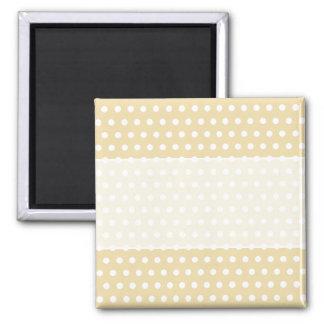 Beige and White Polka Dot Pattern Spotty Fridge Magnets