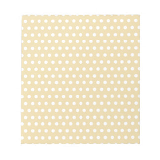 Beige and White Polka Dot Pattern. Spotty. Notepad