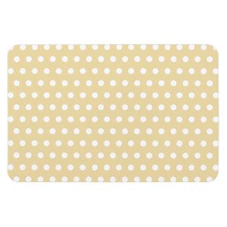 Beige and White Polka Dot Pattern. Spotty. Vinyl Magnet