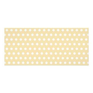 Beige and White Polka Dot Pattern. Spotty. Custom Rack Card